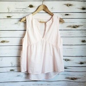 Anthropology Cloth & Stone Pink Cotton Tank